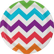 Creative Converting Chevron Party Lunch Plate