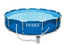 Intex 12 Feet x 30 Inch Metal Frame Pool Set