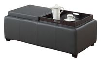 MADISON II-DOUBLE TRAY OTTOMAN-GREY