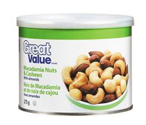 Great Value Noix de macadamia et de cajou avec amandes