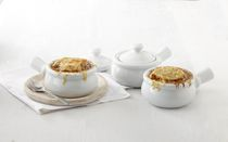 Trudeau Maison 4-Piece Porcelian Onion Soup Bowl Set
