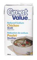 Bouillon de poulet à teneur réduite en sodium de Great Value