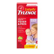 Infants' TYLENOL® Concentrated Drops 24mL, White Grape Flavour