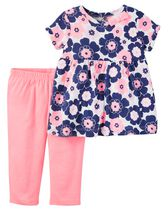 Child of Mine made by Carter's Newborn Girls' 2-piece Floral Set 24M