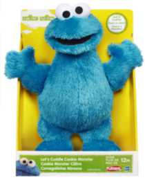 PLAYSKOOL SESAME STREET Let's Cuddle Mini Plush Figure Assortment - COOKIE MONSTER