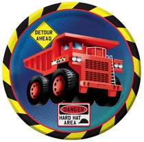 Creative Converting Kid's Construction Zone Party Dinner Plate