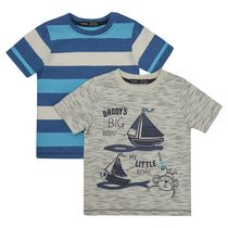George British Design Toddler Boys' 2Pk T Shirts - Big Boat Little Boat 2T