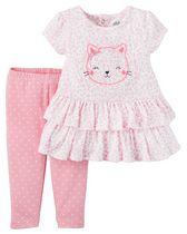 Child of Mine made by Carter's Newborn Girls' 2-piece Kitty Set 24M