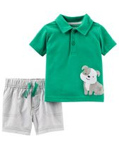Child of Mine made by Carter's Newborn Boys' 2-piece Dog Set 18M