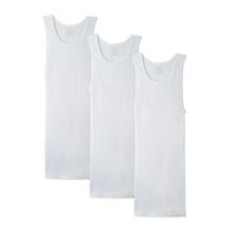 Fruit of the Loom Big Man White A-Shirt Pack of 3 2XL/2TG