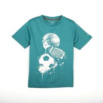 Athletic Works Boys' Short Sleeved Active Graphic Tee L/G