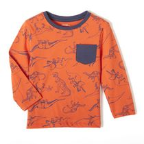 George Toddler Boys' Long Sleeved Pocket Tee Orange 3T