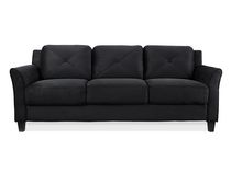 Lifestyle Solutions Taryn Black 3-Seat UPSable Sofa