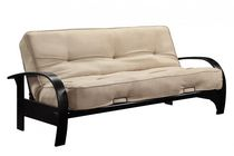 Madrid Wood Arm Futon