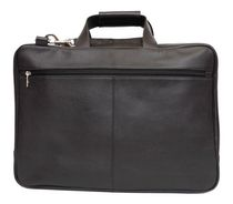 Ashlin Laptop Briefcase with Removable Shoulder Strap, Black