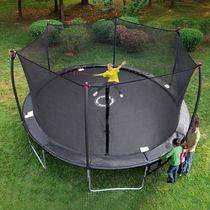 Trainor Sports 17' Oval Trampoline and Enclosure Combo with Shooter Game