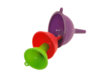 3 Piece Silicone Funnel Set
