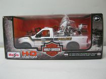 Maisto-1:24 Pick Up Truck with 1:24 Motorcycle - H-D 04 FLHTPI Electra Glide + 99 Ford F350 SD P/u (Police)