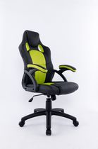 Brassex Black & Green Office Chair - 9157 GRN /BLK