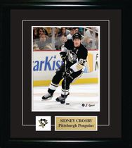 Frameworth Sports Cadre photo Pittsburgh Penguins épinglette et plaque Sidney Crosby, 8 x 10 po
