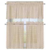 Symphony Sheer 3 Piece Valance and Tier Set