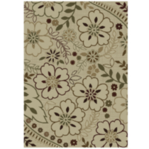 "Orian Floral Glory Indoor Outdoor Area Rug 3' 10"" x 5' 5"""
