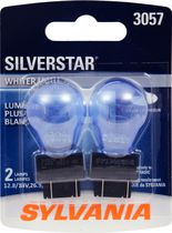 Sylvania SILVERSTAR 3057 Automotive Miniature Bulb, 2 Pack