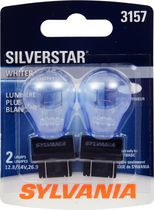 Sylvania SILVERSTAR 3157 Automotive Miniature Bulb, 2 Pack