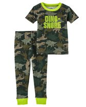 Child of Mine made by Carter's Toddler Boys' 2-Piece Pyjama Set - Dinosaur 3T
