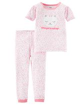 Child of Mine made by Carter's Toddler Girls' 2-Piece Pyjama Set - Kitty 5T