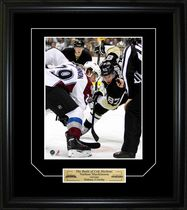 Frameworth Sports Plaque encadré Sidney Crosby et Nathan MacKinnon Bataille de Cole Harbour 8 x 10