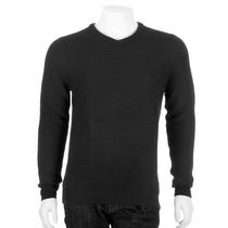 George Men's V-Neck Sweater Black L/G