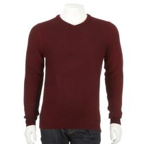 George Men's V-Neck Sweater Red S/P