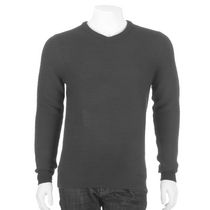George Men's V-Neck Sweater Gray L/G