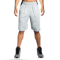 Short de basketball en polyester pour match The Fundamental 2.0 d'AND1 pour hommes Sleet Heather Très Grande