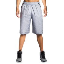 AND1 Men's Post Game Woven Polyester Basketball Shorts Sleet X-Large