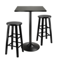Obsidian Pub table set