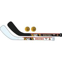 Franklin Sports NHL Ottawa Senators Mini Hockey Player Stick Set - 2 stick and 2 ball set