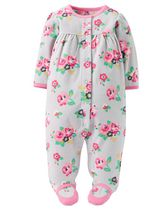 Child of Mine made by Carter's NB Girl's Sleep n Play Floral Body Suit 0-3