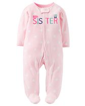 Child of Mine made by Carter's Newborn Girls' Little Sister Sleep & Play Outfit 0-3
