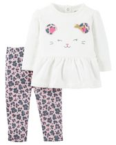 Child of Mine made by Carter's Newborn Girls' Kitty 2-Piece Set 18M