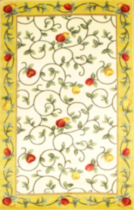 Delight rectangle area rug with non slip backing Yellow 5' x 8'