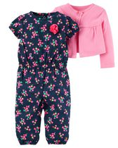 Child of Mine made by Carter's Newborn Girls' 2-Piece Jumper Set 6-9M