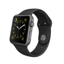 Apple Watch Sport 42mm Space Grey Aluminum Case with Black Sport Band
