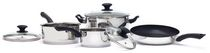 Starbasix 7-Piece Stainless Steel Cookware Set