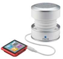 iHome Portable rechargeable mini speakers - white