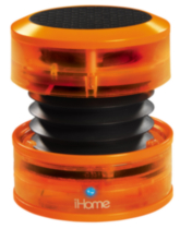 iHome Neon Portable rechargeable mini speakers - Orange