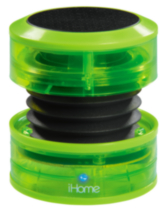iHome Neon Portable rechargeable mini speakers - Green