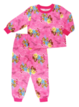 Disney Toddler Girls 2 Piece Flannel Pyjama Set Hot Pink 2T