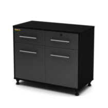 South Shore Karbon Base Cabinet Pure Black, Model # 5227722